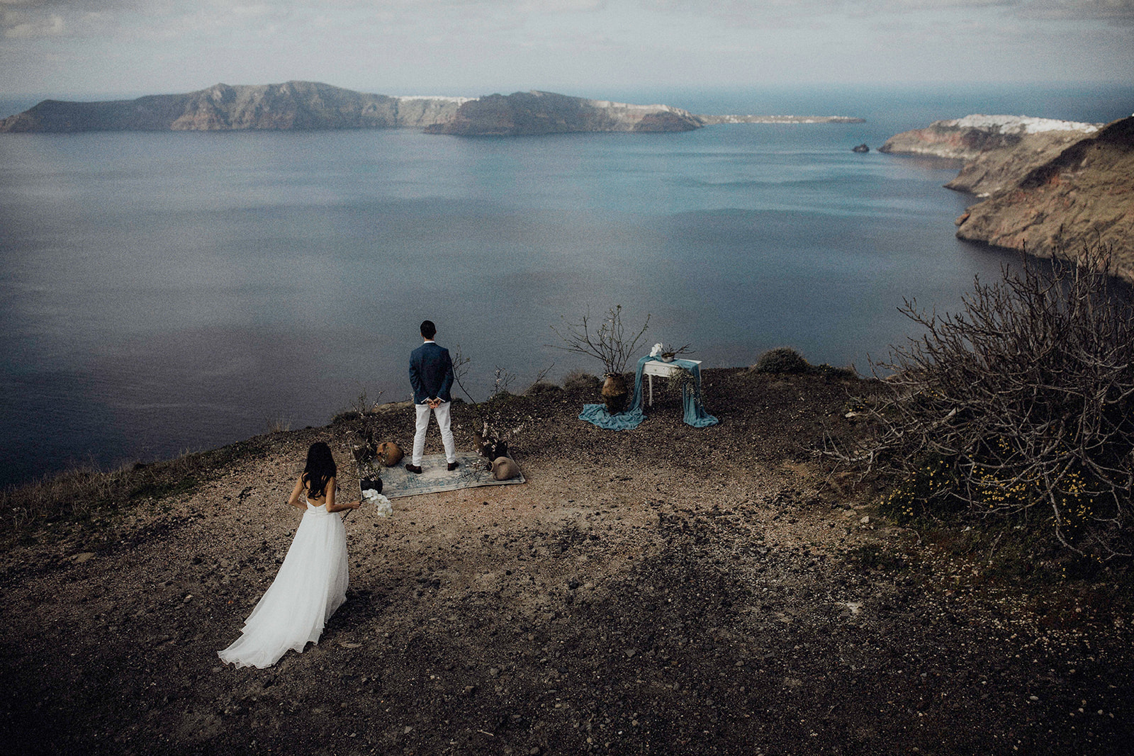Elopement Santorini Qi+dylan